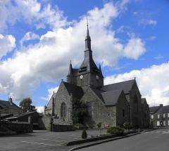 Eglise paroissiale - Français:   Église Notre-Dame-de-l\'Assomption de Brecé (53). Chevet et flanc sud.