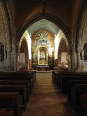 Eglise paroissiale - Français:   Église Notre-Dame-de-l\'Assomption de Brecé (53). Intérieur.