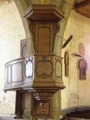Eglise paroissiale - Français:   Chaire de l\'église Notre-Dame-de-l\'Assomption de Brecé (53).