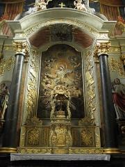 Eglise paroissiale - Français:   Maître-autel et retable de l\'église Notre-Dame-de-l\'Assomption de Brecé (53).