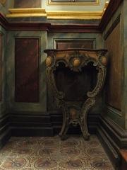 Eglise paroissiale - Français:   Maître-autel et retable de l\'église Notre-Dame-de-l\'Assomption de Brecé (53). Console.