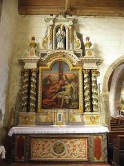 Eglise paroissiale - Français:   Autel et retable de Notre-Dame-de-Pitié en l\'église Notre-Dame-de-l\'Assomption de Brecé (53).