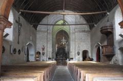 Eglise Saint-Aubin - Deutsch: Kirche Saint-Aubin in Bazouges-sur-le-Loir im Département Sarthe (Pays de la Loire/Frankreich), Innenraum