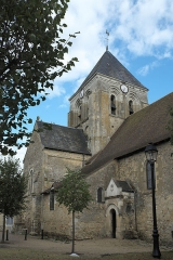 Eglise Saint-Aubin - Deutsch: Kirche Saint-Aubin in Bazouges-sur-le-Loir im Département Sarthe (Pays de la Loire/Frankreich)
