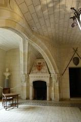 Château de Courtanvaux - English:   Château de Courtanvaux, fireplace