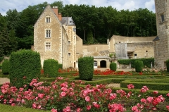 Château de Courtanvaux - Français:   Jardin du château de Courtanvaux à Bessé-sur-Braye, Sarthe, France