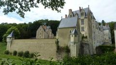 Château de Courtanvaux - Français:   Château de Courtanvaux: vue depuis le chemin d\'accès