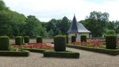 Château de Courtanvaux - Français:   Château de Courtanvaux: le jardin intérieur