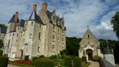 Château de Courtanvaux - Français:   Château de Courtanvaux: vue depuis le jardin intérieur