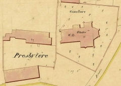 Eglise - English: Cadastral plan of LA BRUERE SUR LOIR church, 1846