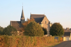 Eglise - English: LA BRUERE SUR LOIR church (Sarthe, France)