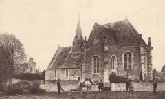 Eglise - English: La Bruere sur Loir church, 1900
