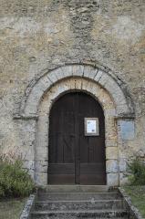 Eglise des Loges - Deutsch: Katholische Kirche Saint-Martin in Les Loges, einem Ortsteil von Coudrecieux im Département Eure-et-Loir (Centre-Val de Loire/Frankreich), romanisches Portal