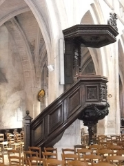 Eglise Notre-Dame - English: The pulpit of Notre-Dame's church, in Mamers, Sarthe, France.