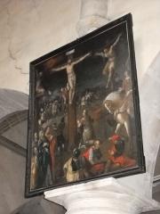 Eglise Saint-Nicolas - English: A crucifixion inside St.Nicholas church, in Mamers, Sarthe, France.