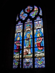 Eglise Saint-Nicolas - English: Stained glass inside St.Nicholas church, in Mamers, Sarthe, France.
