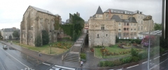Château des Comtes du Maine -       This file was uploaded  with Commonist.       This  image was created with Hugin.