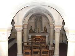 Eglise Notre-Dame-du-Pré - La crypte du tombeau de Saint-Julien dans l'église du Pré au Mans.