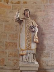 Eglise - Français:   Église Saint-Laurent de Neuvy-en-Champagne (72). Statue de Saint-Étienne.