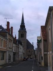 Eglise - English: The church of Précigné, Sarthe, France.