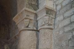 Eglise - Français:   Des chapiteaux de l'église Notre-Dame-des-Anges d'Angles.