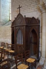 Eglise - Français:   Le confessionnal de l'église Notre-Dame-des-Anges d'Angles.