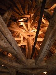 Château -  charpente du toit du chateau d'Apremont (Vendée) 2009-08-20