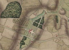 Château de la Guignardière - Français:   plan du château de la Guignardière, tiré de l\'Atlas de Trudaine