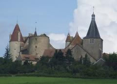 Motte féodale - English: Chateauneuf, Bourgogne, France