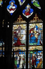 Eglise Saint-Jean - Deutsch: Katholische Pfarrkirche Saint-Jean in Fontenay-le-Comte im Département Vendée (Pays de la Loire/Frankreich), Bleiglasfenster