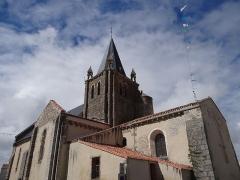 Eglise - Français:   Église Notre Dame de l\'Assomption, Longeville-sur-Mer, Vendée, France.