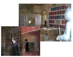 Château -  Chambre seigneuriale et grande salle du château de Sigournais