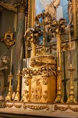 Basilique Sainte-Trinité - English: High altar of Basilique Sainte-Trinité in Cherbourg including an altarpiece by Armand-Auguste Fréret (1830–1919).