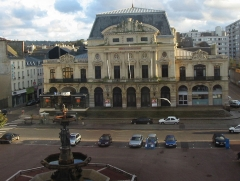 Théatre municipal - English: Theater and foutain in Cherbourg (France, Normandy)