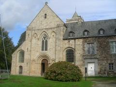 Abbaye de la Lucerne - English: Abbey of Saínte Trinité de La Lucerne, the Church, front