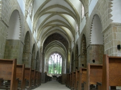 Abbaye de la Lucerne - English: Abbey of Saínte Trinité de La Lucerne, the Church, interior