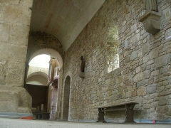 Abbaye de la Lucerne - English: Abbey of Saínte Trinité de La Lucerne, the Church, interior, lateral nave