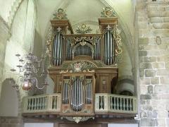 Abbaye de la Lucerne - English: Abbey of Saínte Trinité de La Lucerne, the Church, interior, organ