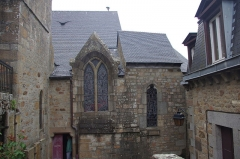 Eglise paroissiale - English: The church Saint-Pierre of Mont Saint-Michel, France