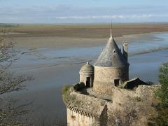 Enceinte des Fanils - Español: Torre de St. Gabriel, en Mont St. Michel.