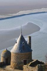 Enceinte des Fanils -  Sommet de la tour Saint-Gabriel au Mont-Saint-Michel (50).