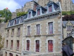 Hôtel Poulard et terrain (annexe) - English: Mont Saint-Michel, frontage of the house of Mère Poulard