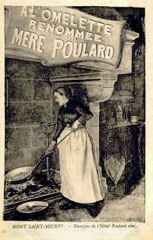Hôtel Poulard et terrain (annexe) - Mere Poulard cuisant son omelette
