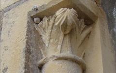 Eglise et cimetière qui l'entoure - English: Photographie of a sculpture of XIXe century