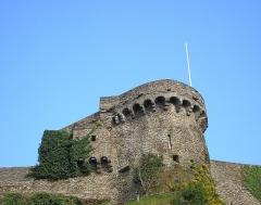Vestiges des remparts -  Saint-Lô (Normandie, France). La tour Beaux-Regards.