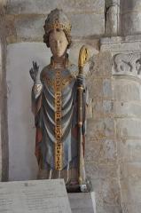 La Chapelle des Marins - English: Saint-Vaast- la Hougue (France, Normandy) Statue of Saint Vaast
