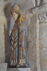 La Chapelle des Marins - English: Statue of Saint Vaast in Saint-Vaast- la Hougue (France, Normandy)