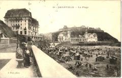 Casino de Granville -  Carte postale ancienne de la plage de Granville