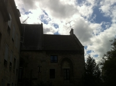 Ancienne église Notre-Dame-de-la-Place - English: back of the abbey with romanesque features