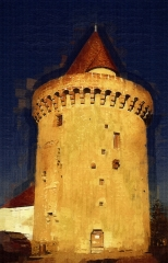 Tour Marguerite - English: Largest of the original fortified towers of the town wall and the only one to survive.
